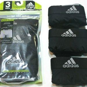 Men's adidas Climalite 3-Pack Boxer Briefs Black